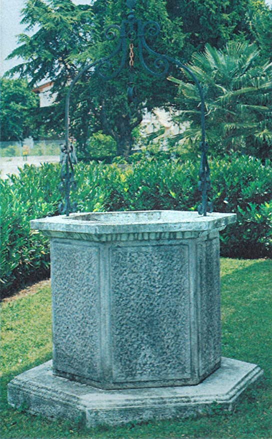 Pozo de jardín rústico CM132 X 132 X 240H Nei Varios colores envejecido (arco de hierro incluido): Amazon.es: Bricolaje y herramientas