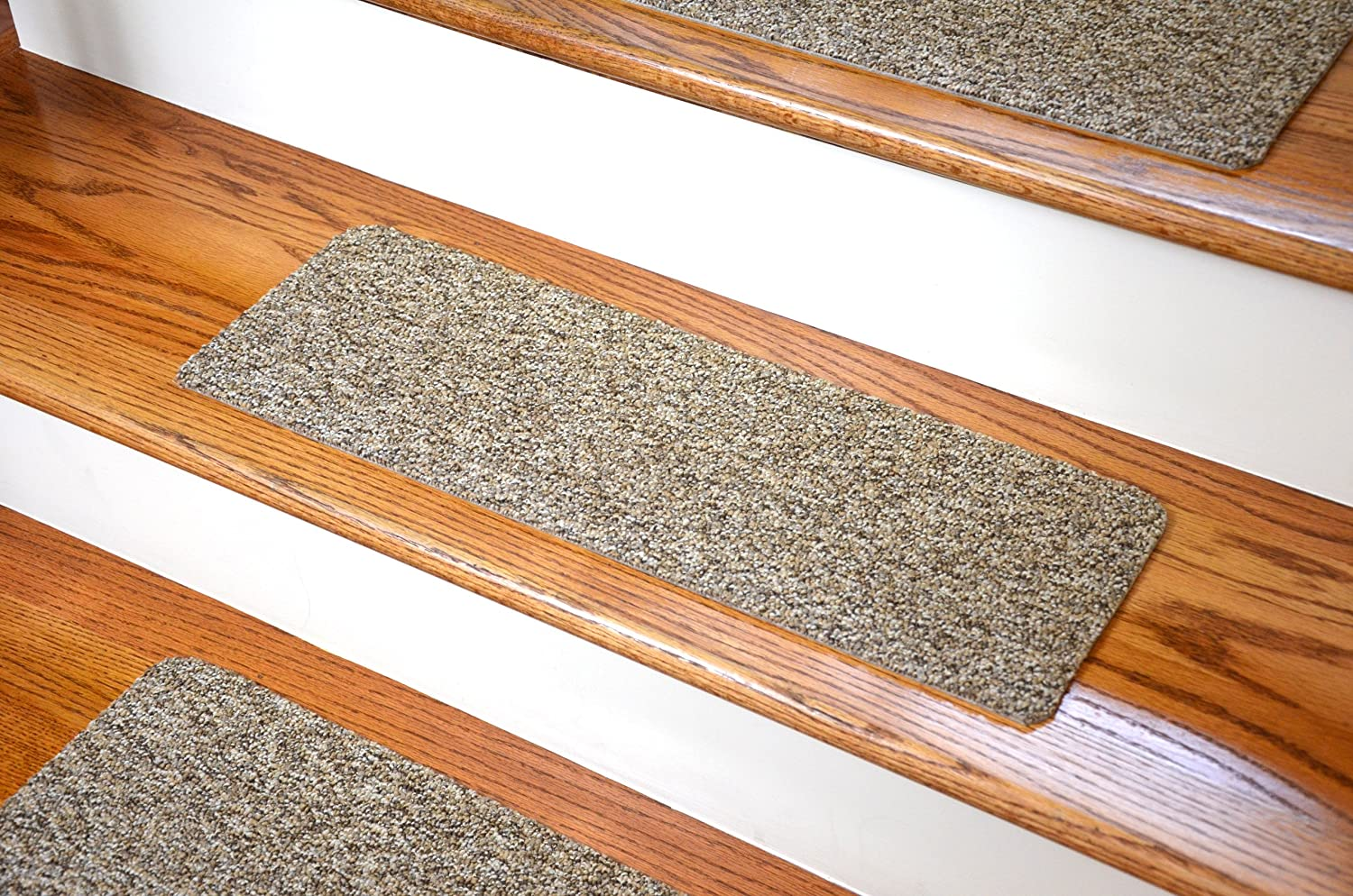 Dean Affordable Non Skid DIY Peel U0026 Stick Carpet Stair Treads   Color:  Beige U0026 Brown Tweed   Set Of 13: Staircase Step Treads: Amazon.com:  Industrial U0026 ...