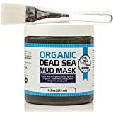 Dead Sea Mud Mask & Free Face Brush - HUGE 9.3oz - Clears Acne - Anti-Aging - Exfoliate Skin - Moisturize - Aloe Vera Juice - Jojoba - Sunflower - Hickory Bark Extract - Calendula Oil - Shea Butter