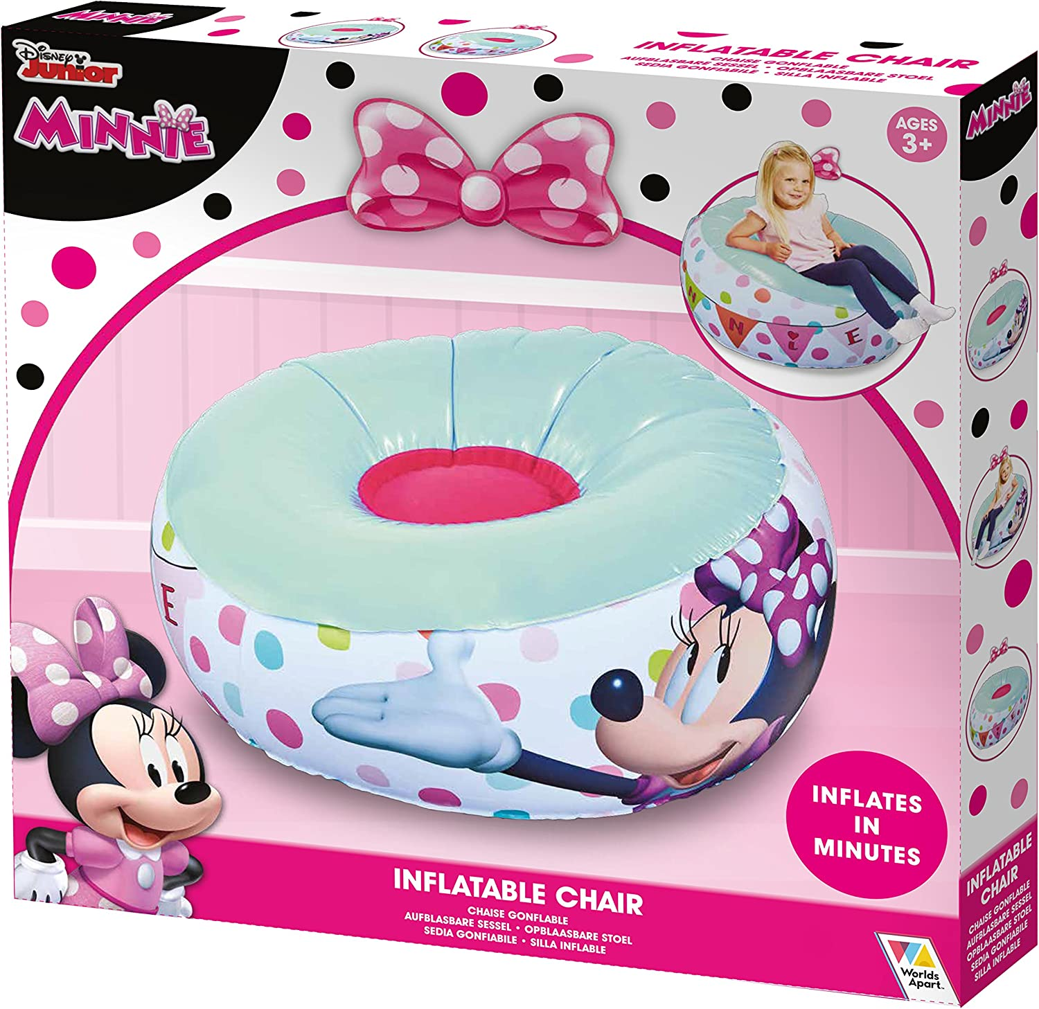Amazon.com: Minnie Mouse - Silla inflable para niños: Toys ...