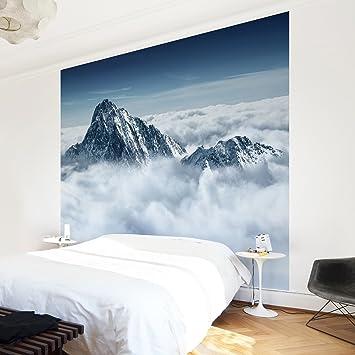 Apalis Vliestapete Die Alpen über den Wolken Fototapete ...