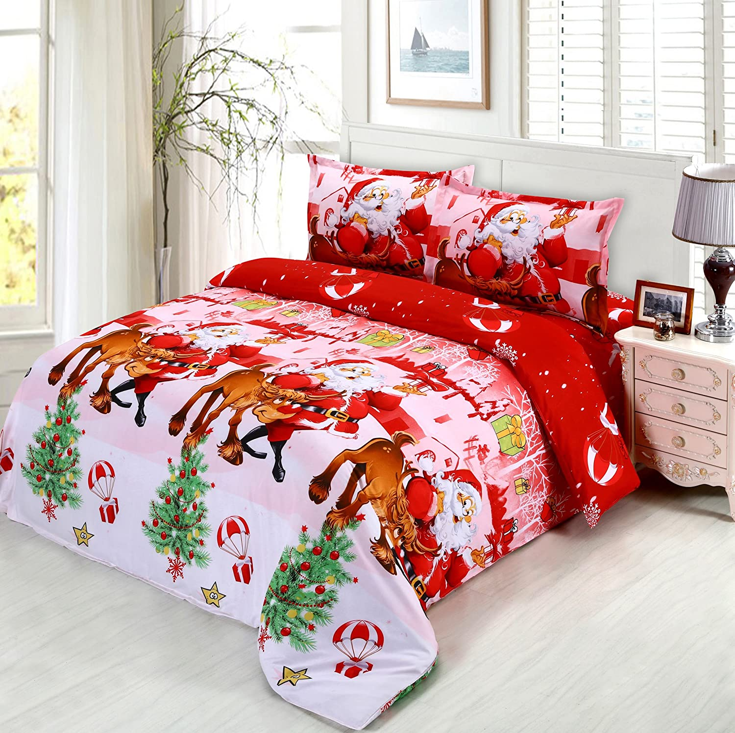 christmas bedding sets ease bedding with style. Black Bedroom Furniture Sets. Home Design Ideas