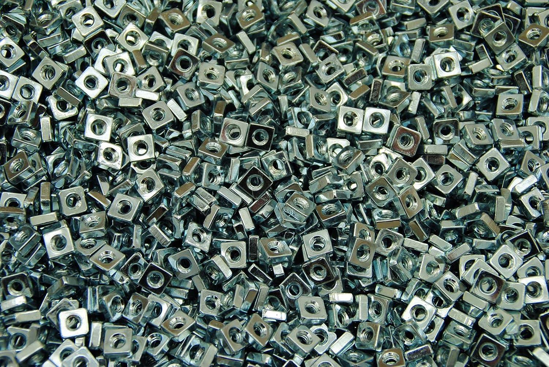 2000 #8 Machine Thread 11//32 SQ Zinc Plated 8-32 Square Nut