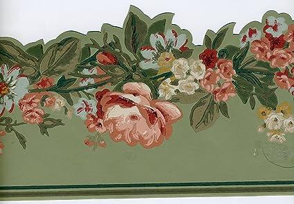 York Prepasted Decorative Borders Flowers Gt6672b