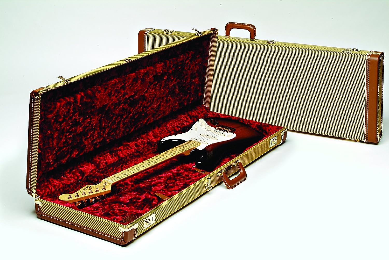 9489644cfdb Amazon.com: Fender Deluxe Strat/Tele Case, Tweed w/ Red Poodle Plush  Interior: Musical Instruments