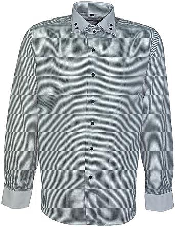 999aa33b Riverton Men's Designer Shirt Slim Fit Long Sleeves Casual Shirts: Amazon.co .uk: Clothing