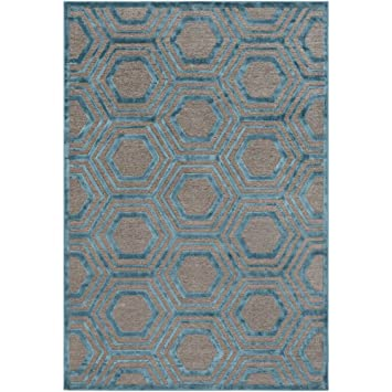 Amazon Com Gottlieb Green And Brown Modern Area Rug 7 6 X 10 6