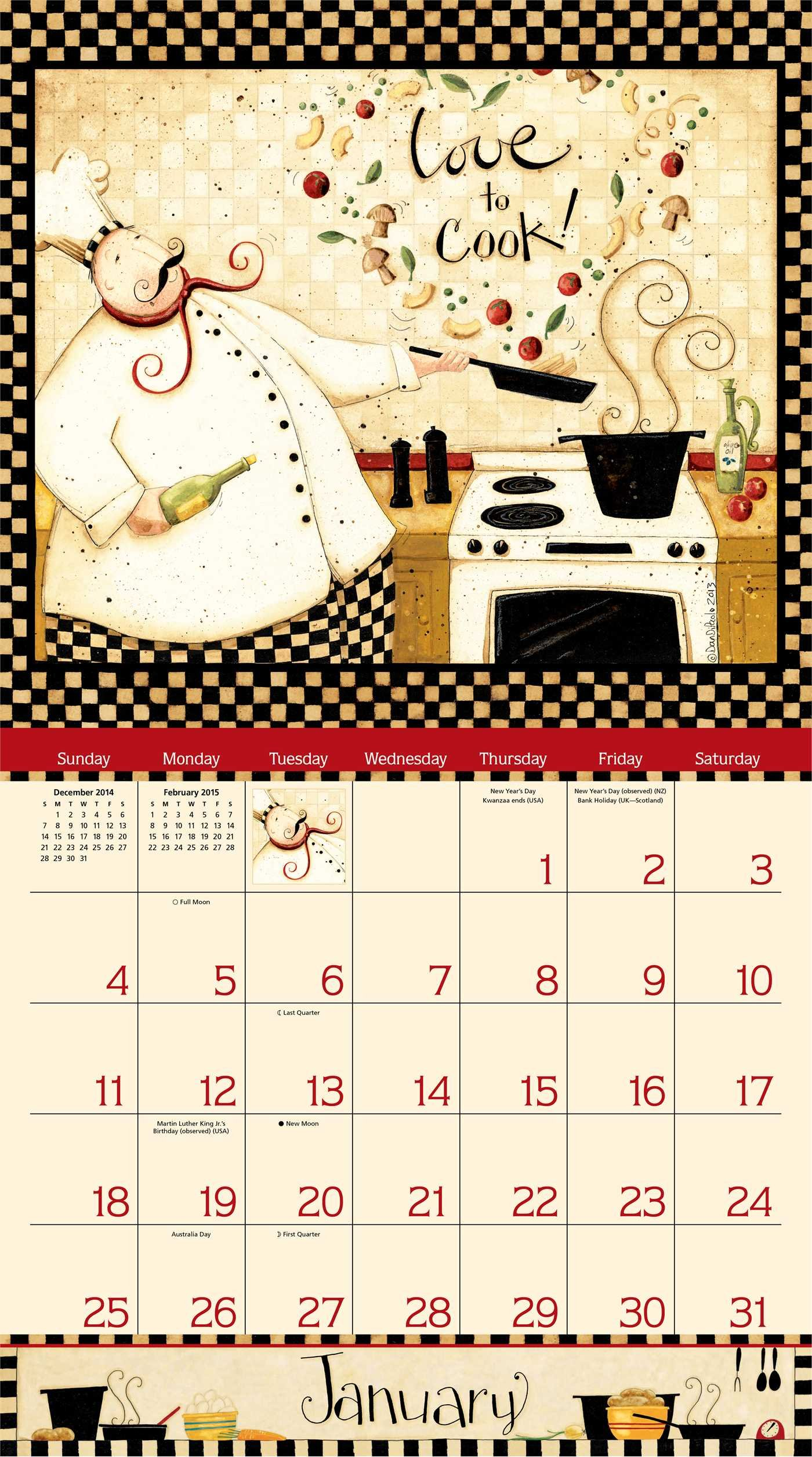 Home Is In The Kitchen Calendar Amazon Co Uk Dan Dipaolo Books