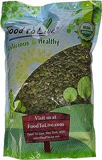 Food to Live Pepitas/Semillas de Calabaza Bio (Eco, Ecológico, crudas,