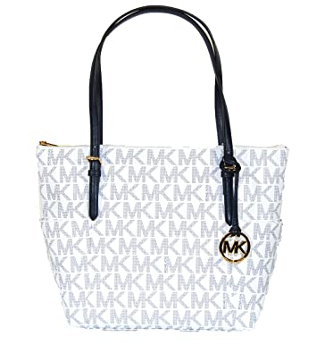 46c3f1ca97f0 Image Unavailable. Image not available for. Color  Michael Kors Jet Set  Item East West Signature ...