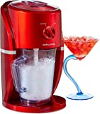Andrew James Ice Crusher Slush Machine Crushed Ice for Slushies Cocktails & Smoothies | Electric Maker for Home Use | 1 Litre BPA Free Plastic Jug | 25w | Red