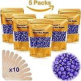 17.5 Oz Hair Wax Beans by Charmonic, Hard Body Wax Beans, Hair Removal Depilatory Wax European Beads for Women Men 500g/17.5Oz Lavender