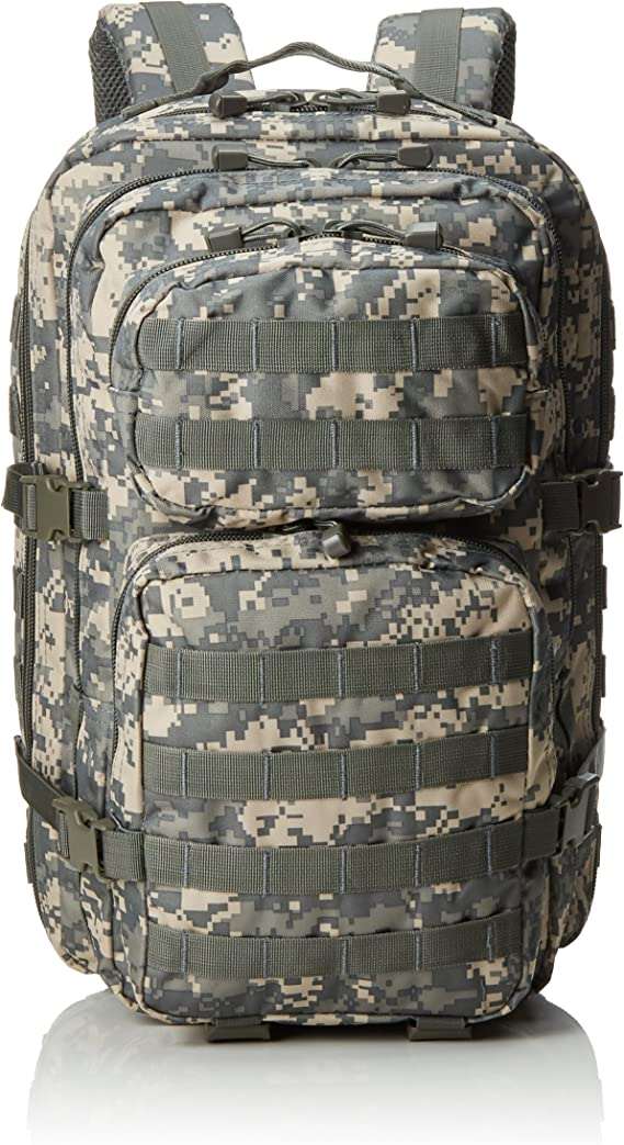 Mil-Tec Military Army Patrol Molle Assault Pack Tactical Combat Rucksack Backpack Bag 36L ACU Digital Camo