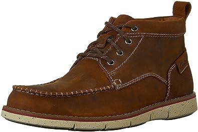 Clarks Men's Kyston Mid Ankle Boot,Tan Nubuck,US ...