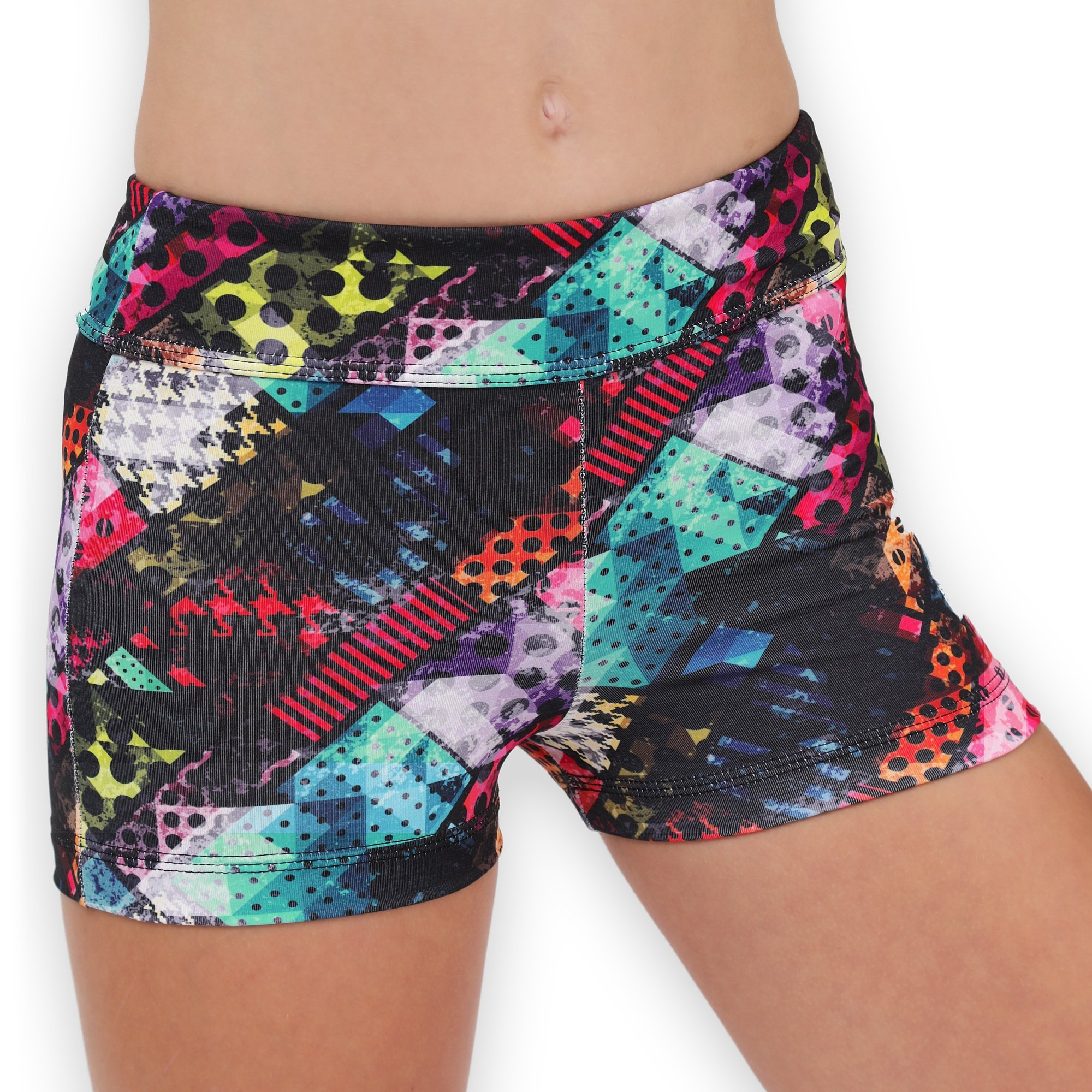 Leap Gear Gymnastics and Dance Shorts - Traffic/Easy Care - C Large by Leap Gear