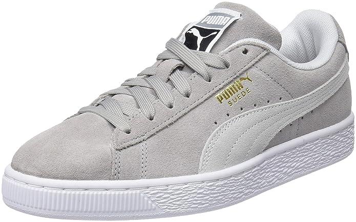 Puma Suede Classic Sneaker Damen Herren Unisex Wildleder Grau (Ash)