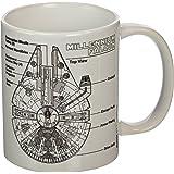 "Pyramid International ""Star Wars (Millennium Falcon Sketch)"" Official Boxed Ceramic Coffee/Tea Mug, Multi-Colour, 11 oz/315 ml"