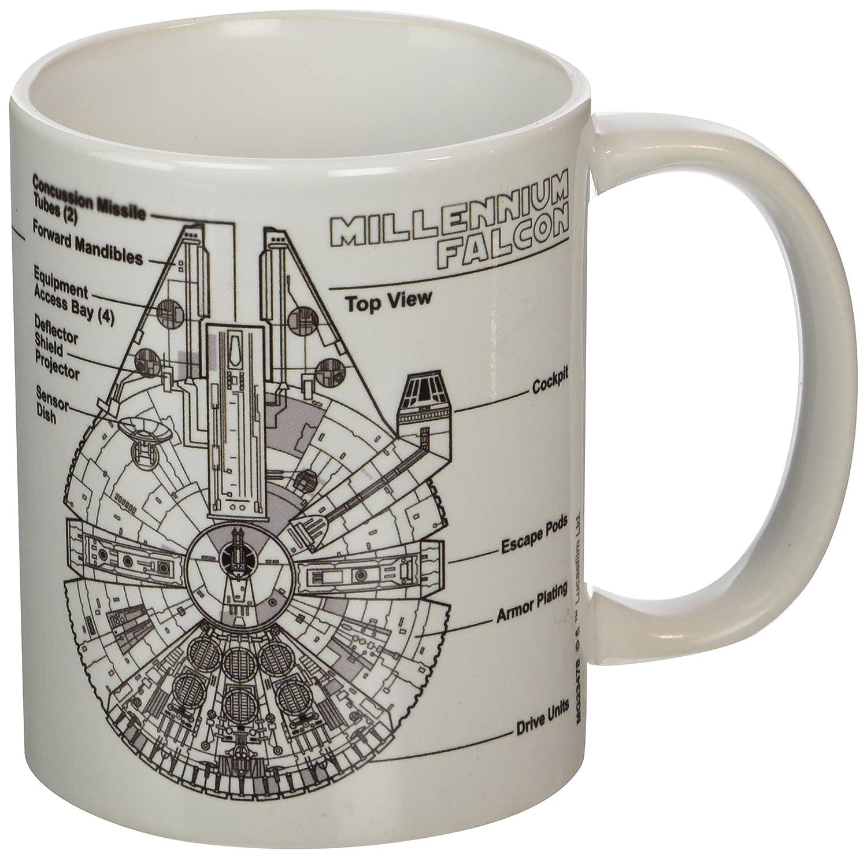 Pyramid International Star Wars (Millennium Falcon Sketch) Tasse à café, 11 oz / 315 ml MG23478