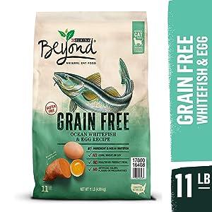 Purina Beyond Grain Free, Natural Dry Cat Food, Grain Free Ocean Whitefish & Egg Recipe