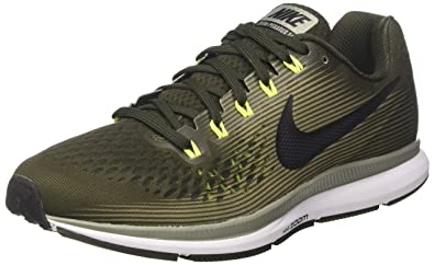 timeless design fb4b8 1aff0 Nike Air Zoom Pegasus 34, Chaussures de Running Homme, Vert (Sequoia Black