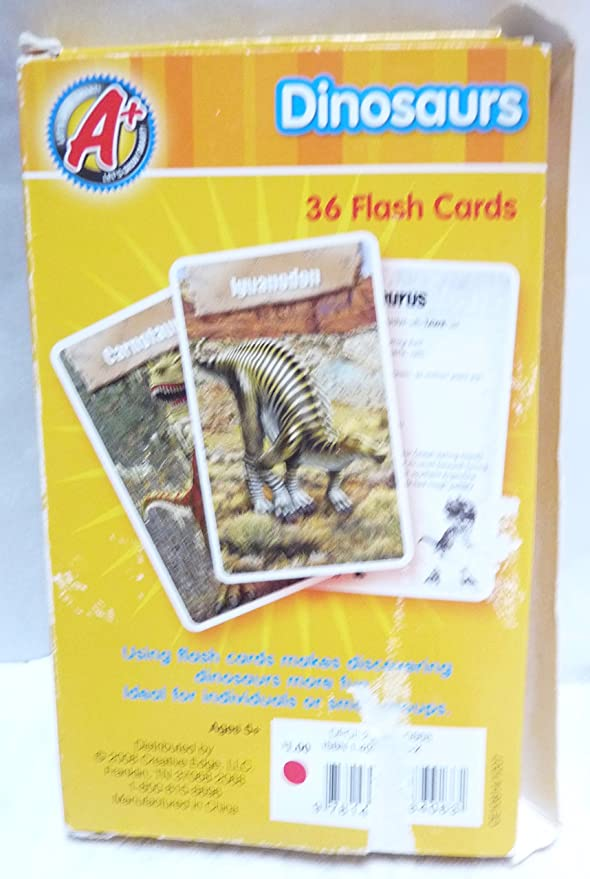 Amazon.com: Dinosaurios 36 tarjetas flash: Toys & Games