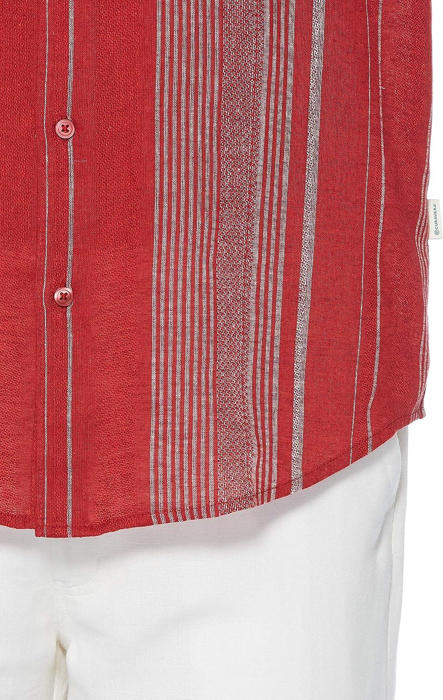 Cubavera Mens Big and Tall Big /& Tall Yarn Dye Textured Stripe Shirt