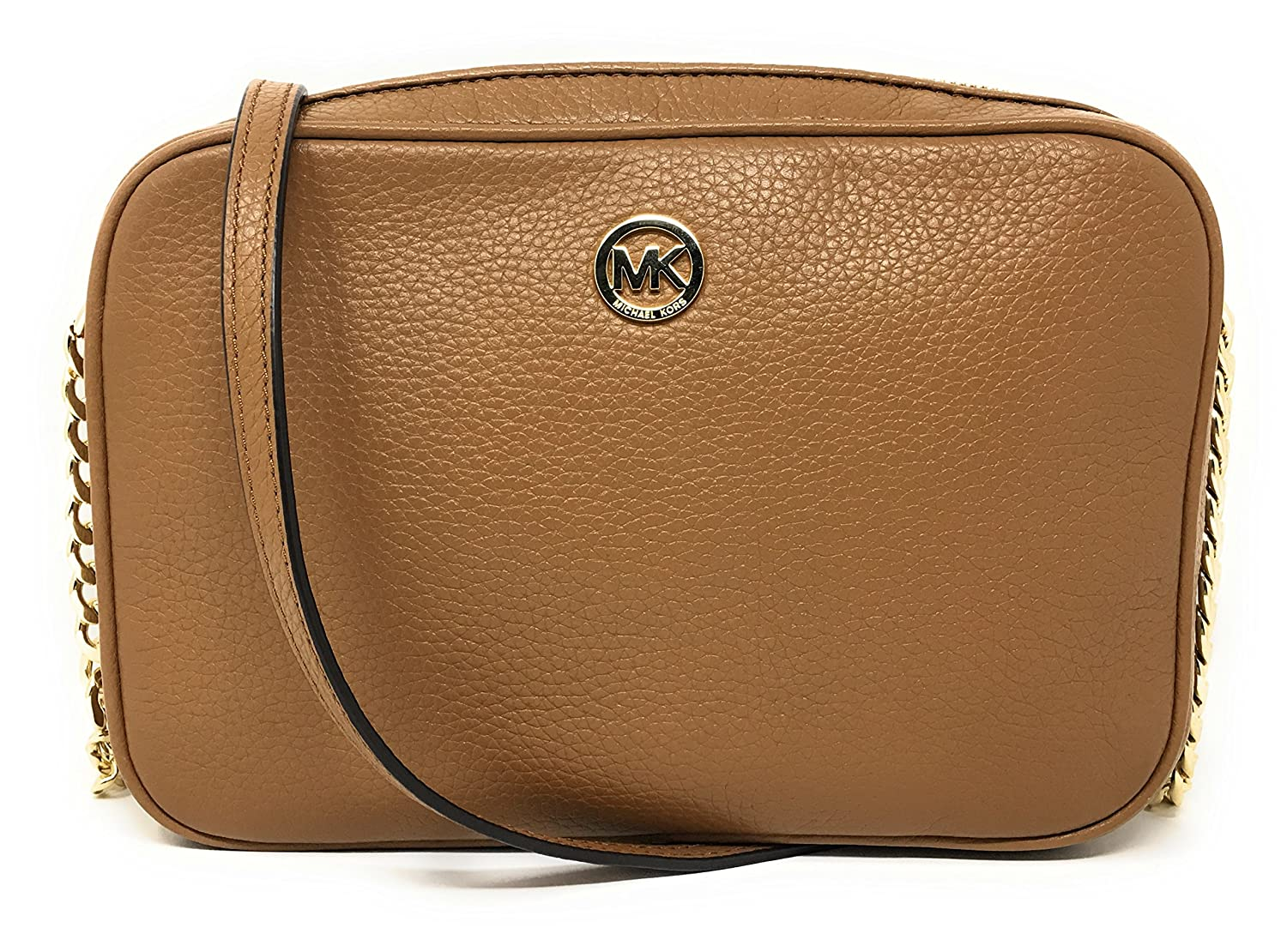 4e075bc6c670 Michael Kors Fulton Leather Large East West Cross-body (Acorn)  Handbags   Amazon.com