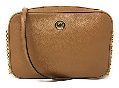 0251f86471f9ef Michael Kors Fulton Leather Large East West Cross-body (Acorn ...