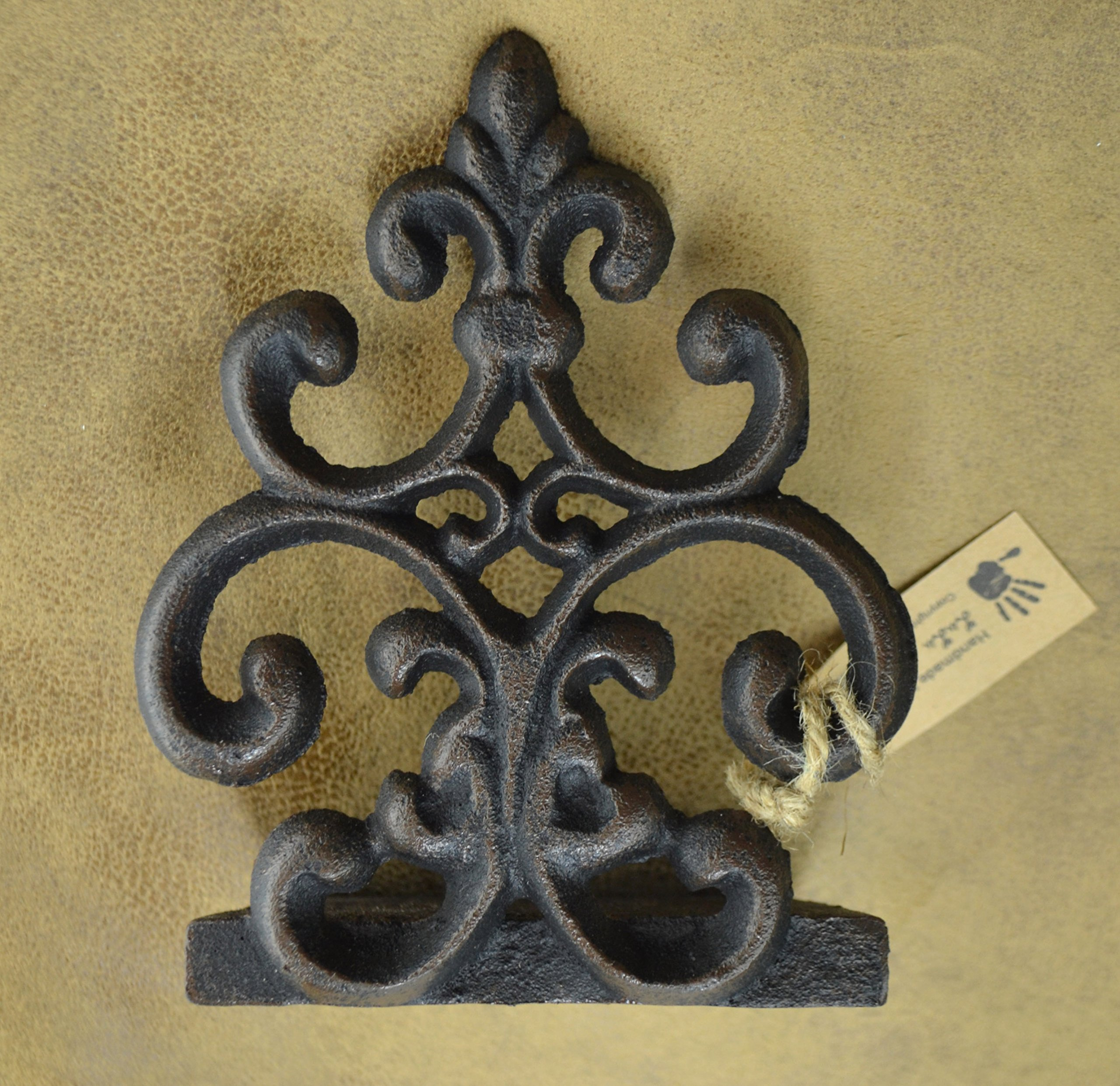 Lulu Decor, Cast Iron Fleur De Lis Door Stop, Door Stopper in Antique Black Finish, Beautiful and Useful Product (1) by Lulu Decor (Image #3)
