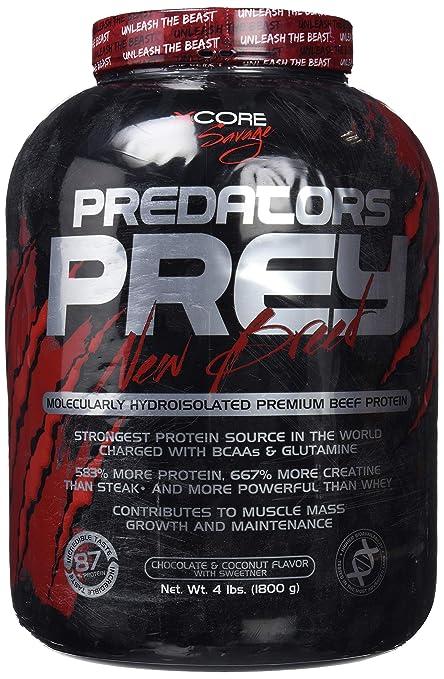 Predators Prey Pure Beef Protein Powder 1800 g: Sabor a chocolate y coco – Suplemento de carne hidroaislado molecularmente de primera calidad con 36 g ...