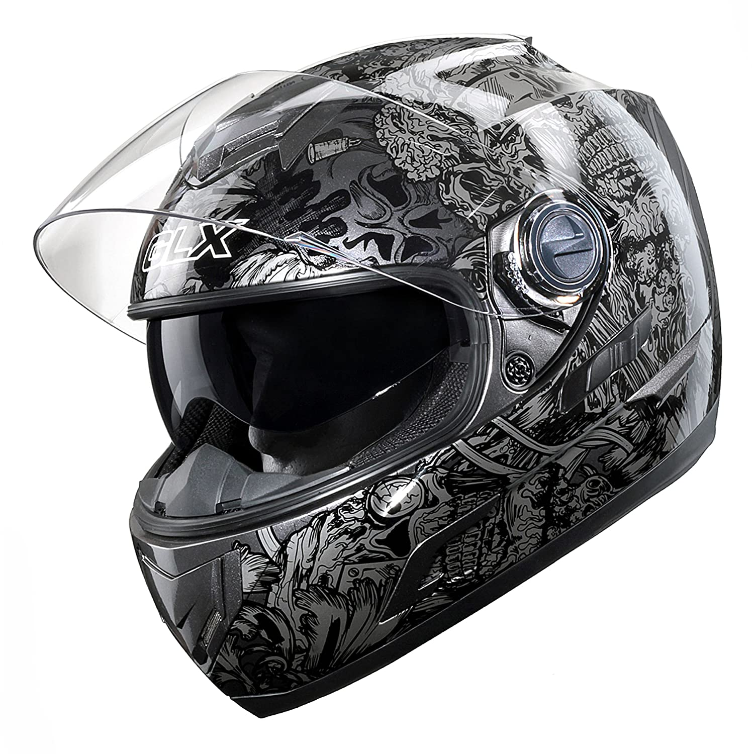 GLX GX-15 Full Face Motorcycle Helmet