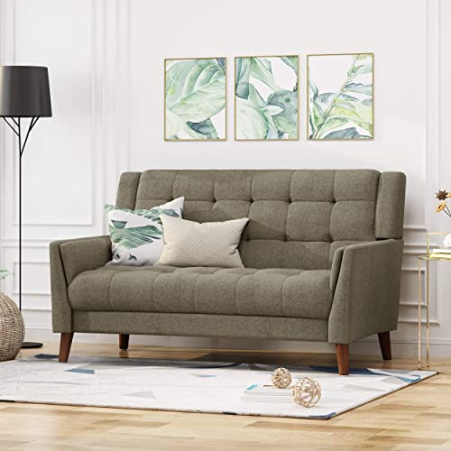Christopher Knight Home Evelyn Mid Century Modern Fabric Loveseat