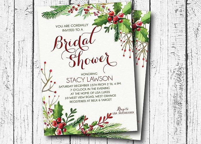 amazon com christmas bridal shower invitation holiday party