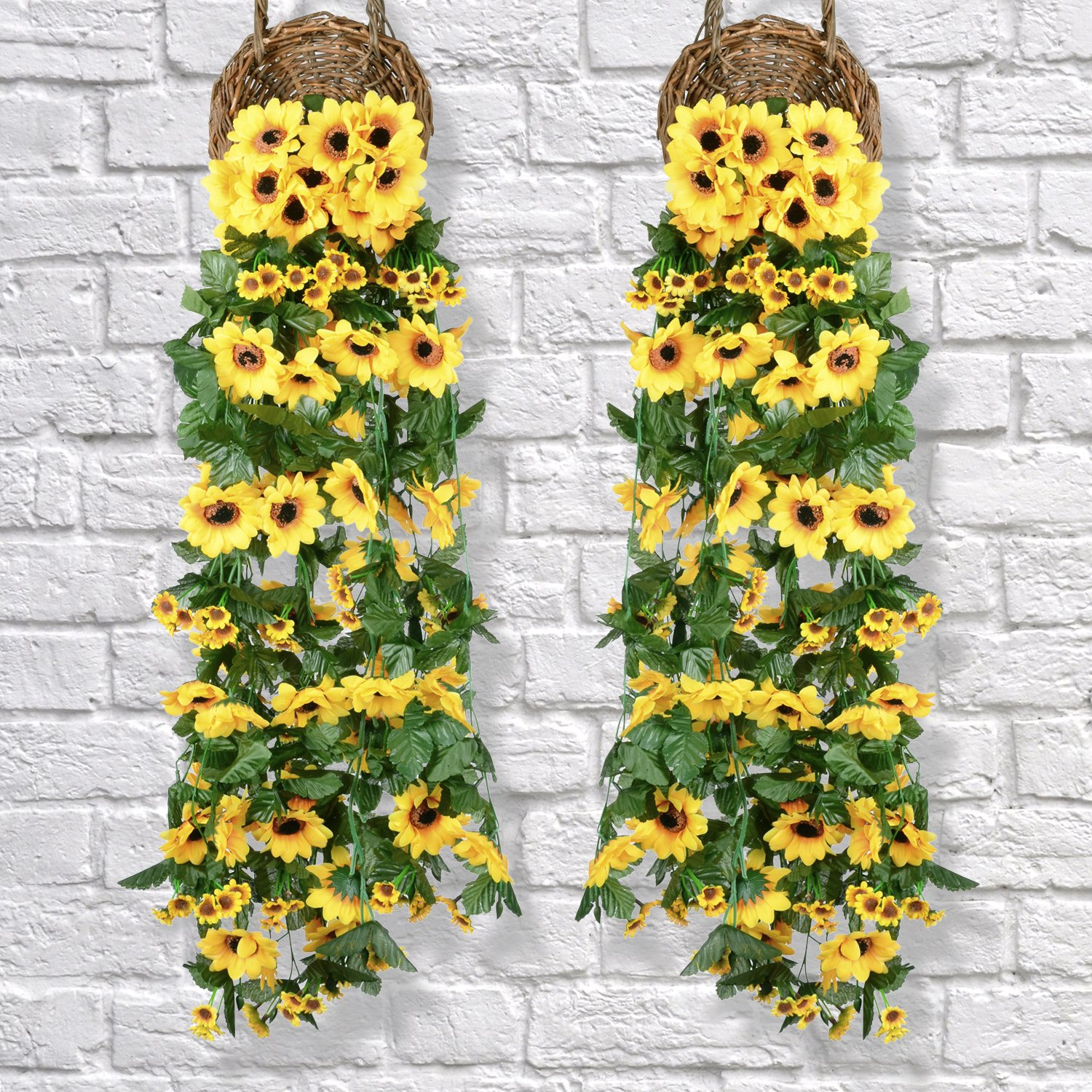 Allstate Floral Craft Silk Sunflower Flower Garland In Yellow6