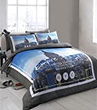 Double Bed Printed Empire State building NYC Duvet Cover & Pillowcase Bedding Set