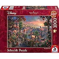 Schmidt - SCH-59490 - Disney, Lady and the Tramp, 1000 stukjes Puzzel - vanaf 12 jaar - disney puzzel - van Thomas Kinkade