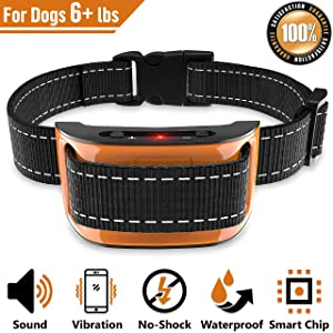 NPS No Shock Bark Collar for Small to Large Dogs - Smart Chip Adjusts to Stop Barking in 1 Minute - Highly Effective Vibration and Sound Stops Barks Fast with No Pain - Safe, Anti-Bark Device