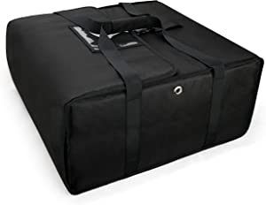 Insulated Food Delivery Bag 22 by 22 by 10 for Uber Eats/DoorDash/Grubhub, Catering bag for Hot/Cold xL Large Black