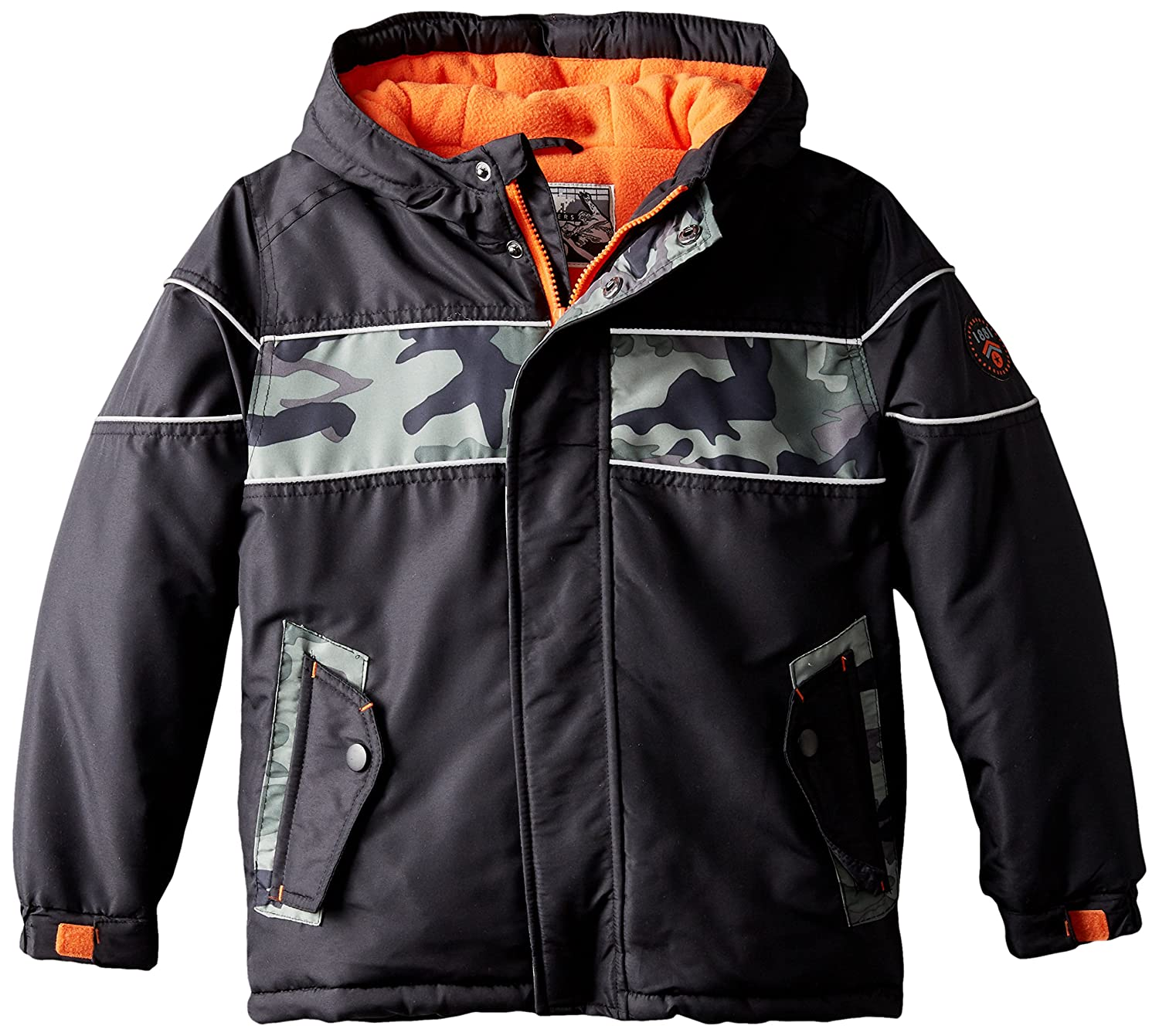 Rothschild Little Boys' Puffer Coat with Printed Stripe 45344