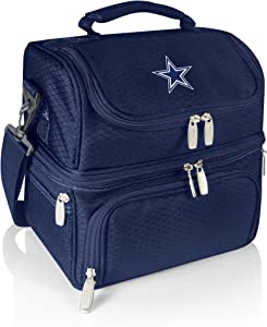 PICNIC TIME NFL Dallas Cowboys Pranzo Insulated Lunch Tote with Service for One, Navy