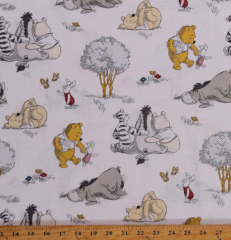 Winnie Eeyore  in Stars  Fabric  BTY Tigger Piglet