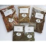 Tropical Fish Food 5 Packs, Flake, Granules, Freeze Dried Bloodworm, Algae Wafers, Daphnia