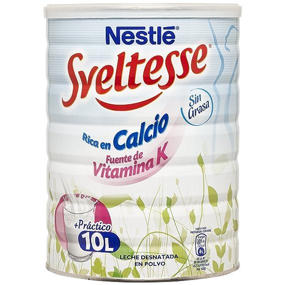 Sveltesse Leche en Polvo Desnatada Lata - Paquete de 12 x 1 kg ...