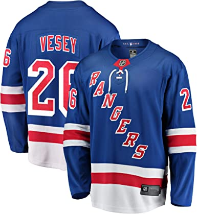 Amazon.com: Jimmy Vesey New York Rangers #26 Blue Youth Home Youth ...