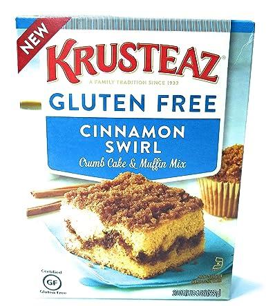 Krusteaz mezcla de tarta y muffin de canela sin gluten, 20 ...