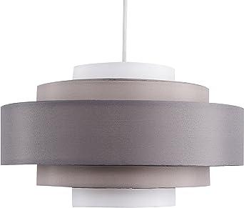 MiniSun – Moderna pantalla lámpara de techo - 5 Niveles en tonos de gris - Polialgodón - Pantallas lampara de tela - Iluminación interior: Amazon.es: Iluminación