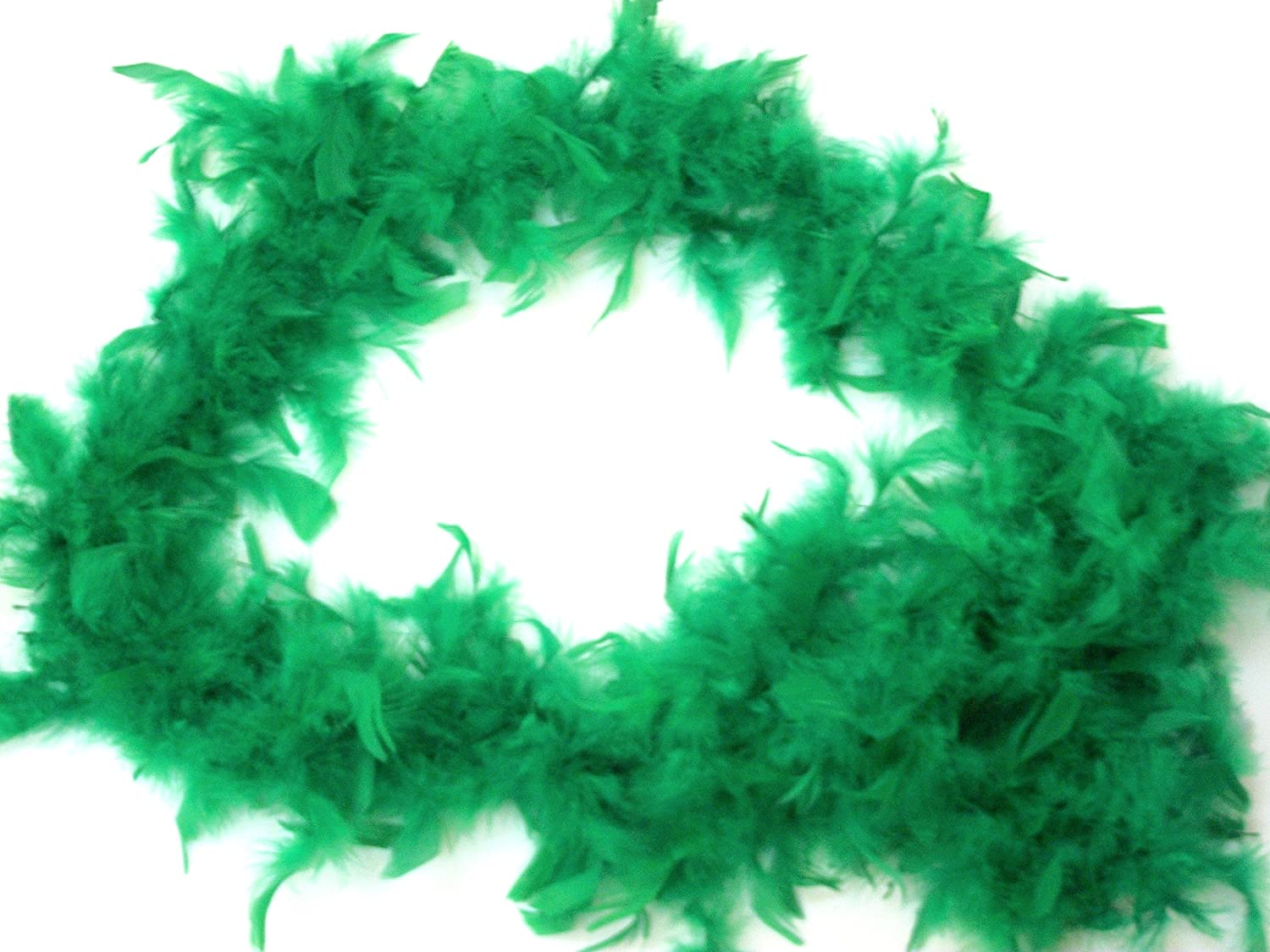 Thick Green 5-Ft Turkey Feather Boa!