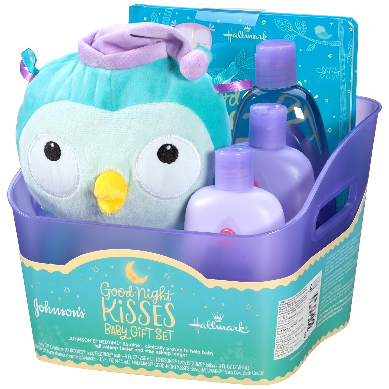 Amazon.com: Johnson\'s Bedtime Good-Night Kisses Baby Gift Set, 5 ...