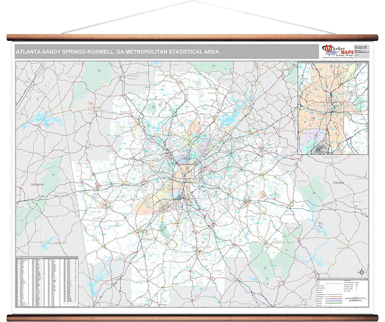 Map Of Atlanta Georgia Area.Amazon Com Marketmaps Atlanta Sandy Springs Reswell Ga Metro Area