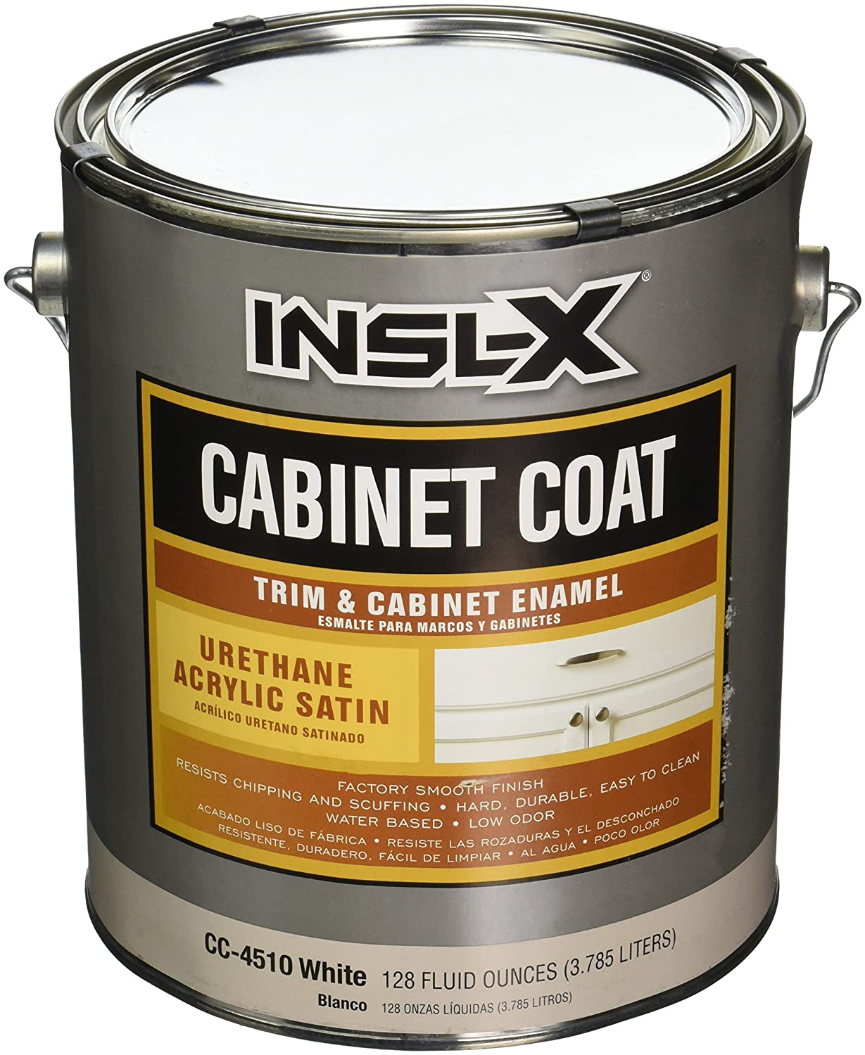 High Quality INSL X PRODUCTS CC4510092 01 Gallon Satin White Cab Enamel   House Paint    Amazon.com